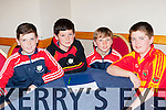 Valentia quiz masters at the County Scor na bPaistí finals in the INEC on Sunday l-r: Sonny Curran, Joe Lynch, Emmet Daly and Tadhg Lynch