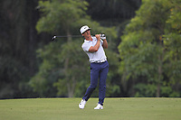 Thorbjorn Olesen (DEN) in action on the 5th during Round 1 of the Maybank Championship at the Saujana Golf and Country Club in Kuala Lumpur on Thursday 1st February 2018.<br /> Picture:  Thos Caffrey / www.golffile.ie<br /> <br /> All photo usage must carry mandatory copyright credit (&copy; Golffile | Thos Caffrey)