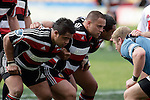 Simon Lemalu, John Fonokalafi & Sekope Kepu prepare to pack down in a scrum.  Air NZ Cup week 4 game between the Counties Manukau Steelers and Northland played at Mt Smart Stadium on the 19th of August 2006. Northland won 21 - 17.