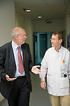 Dr Jean-Pierre Droz, Oncology unit, Centre Leon Berard, Lyon, France. The doctor with trainee assistant Michel Zimmermann