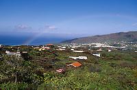 Spanien, Kanarische Inseln, La Palma, La Palma, Aridane-Tal, Regenbogen