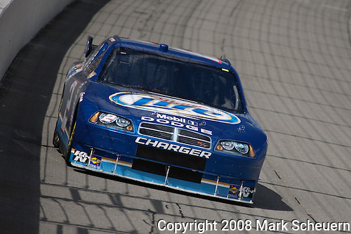 16 August 2008: Kurt Busch drives the Miller Lite Dodge during practice at the 3M Performance 400 at Michigan International Speedway, Brooklyn, Michigan, USA.