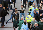 Rival fans clash during the FA Cup Semi Final match at Wembley Stadium, London. Picture date: April 22nd, 2017. Pic credit should read: David Klein/Sportimage