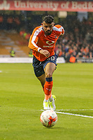 Isaac Vassell of Luton Town during the Sky Bet League 2 Play Off Semi Final 2 leg match between Luton Town and Blackpool at Kenilworth Road, Luton, England on 18 May 2017. Photo by David Horn.