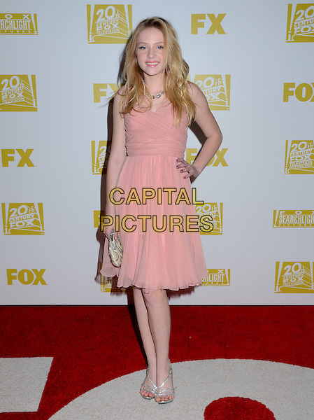 Saxon Sharbino.2013 Fox Golden Globe Awards Party celebrating the 70th Annual Golden Globe Awards held at the The FOX Pavilion at the Beverly Hills Hotel, Beverly Hills, California, USA..January 13th, 2013.globes full length pink dress hand on hip.CAP/ADM/BT.©Birdie Thompson/AdMedia/Capital Pictures.