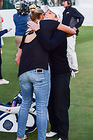 Lexi Thompson (USA) was on hand at the 18th green to share her condolences with Cristie Kerr (USA) following round 4 of  the Volunteers of America Texas Shootout Presented by JTBC, at the Las Colinas Country Club in Irving, Texas, USA. 4/30/2017.<br /> Picture: Golffile | Ken Murray<br /> <br /> <br /> All photo usage must carry mandatory copyright credit (&copy; Golffile | Ken Murray)