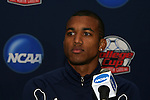 10 December 2009: Sophomore forward Teal Bunbury. The University of Akron Zips held a press conference at WakeMed Soccer Stadium in Cary, North Carolina on the day before playing North Carolina in an NCAA Division I Men's College Cup semifinal game.