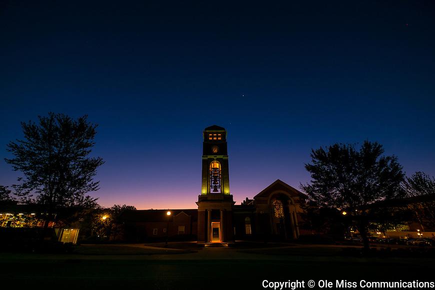 Sunrise on Paris-Yates Chapel. Photo by Robert Jordan/Ole Miss Communications