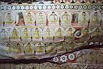 Buddha figures mural inside Dambulla cave Buddhist temple complex, Sri Lanka, Asia