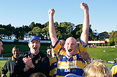 Craig Carter & Paul Wheeler celebrate.McNamara Cup final - Premier 1 Championship, Patumahoe v Ardmore Marist. Patumahoe won 13 - 6. Counties Manukau club rugby finals played at Growers Stadium, Pukekohe, 24th of June 2006.