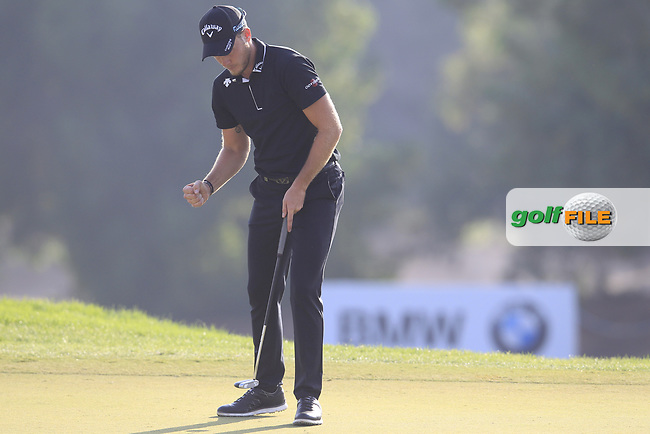 Danny Willett (ENG) on the 15th green during the final round of the DP World Tour Championship, Jumeirah Golf Estates, Dubai, United Arab Emirates. 18/11/2018<br /> Picture: Golffile | Fran Caffrey<br /> <br /> <br /> All photo usage must carry mandatory copyright credit (&copy; Golffile | Fran Caffrey)
