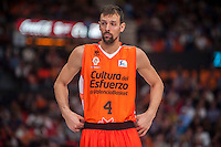 VALENCIA, SPAIN - NOVEMBER 22: Jordi Trias during Endesa League match between Valencia Basket Club and Retabet.es GBC at Fonteta Stadium on November 22, 2015 in Valencia, Spain