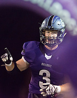 NWA Democrat-Gazette/CHARLIE KAIJO Fayetteville High School running back Nate Nolen (3) reacts during a playoff football game on Friday, November 10, 2017 at Fayetteville High School in Fayetteville.