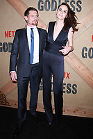 NEW YORK, NY - NOVEMBER 19: Jack O'Connell and Michelle Dockery at the Netflix New York premiere of Godless at Metrograph in New York City on November 19, 2017. Credit: RWMediaPunch /NortePhoto.com