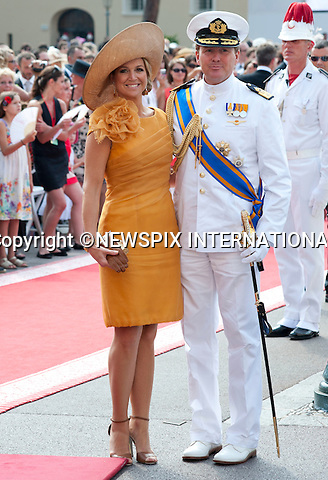 "MONACO ROYAL WEDDING .Prince Willem-Alexander, Prince of Orange and Princess Máxima of the Netherlands..Guests Arrive at the Religious wedding of H.S.H Prince Albert II and Miss Charlene Wittstock in the Prince's Palace._Prince's Palace Monaco 01/07/2011..Mandatory Photo Credit: ©Dias/Newspix International..**ALL FEES PAYABLE TO: ""NEWSPIX INTERNATIONAL""**..PHOTO CREDIT MANDATORY!!: NEWSPIX INTERNATIONAL(Failure to credit will incur a surcharge of 100% of reproduction fees)..IMMEDIATE CONFIRMATION OF USAGE REQUIRED:.Newspix International, 31 Chinnery Hill, Bishop's Stortford, ENGLAND CM23 3PS.Tel:+441279 324672  ; Fax: +441279656877.Mobile:  0777568 1153.e-mail: info@newspixinternational.co.uk"