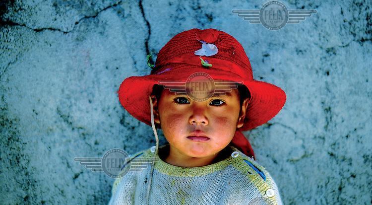 A girl in a rural village..