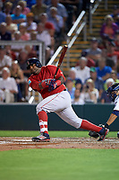 Boston Red Sox third baseman Pablo Sandoval (48) at bat during a Spring Training game against the Minnesota Twins on March 16, 2016 at Hammond Stadium in Fort Myers, Florida.  Minnesota defeated Boston 9-4.  (Mike Janes/Four Seam Images)