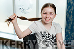 Orla O'Connor from Ballymacelligott who had her hair cut for Rapunzel charity in Vogue hairdressers in Tralee.