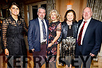 Jennifer Marshal, Kevin McGovern, Juliette, Margaret and Michael Marshal from Ballymac enjoying the Greatest Showman Christmas Party in the Ballygarry House Hotel on Friday night.
