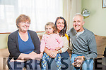 Joe Flynn at home with his family in Rahoonane Pictured wife Breda, grand-daughter Caitlin and daughter Bernie