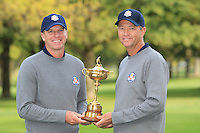 Steve Stricker and David Love III at The USA Team Picture for the Ryder Cup 2012, Medinah Country Club,Medinah, Illinois,USA.Picture: Fran Caffrey/www.Golffile.ie.