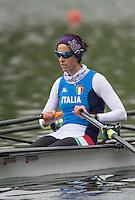 Lucerne, SWITZERLAND<br /> <br /> ITA LW2X. Elisabetta SANCASANI. 2016 European Olympic Qualifying Regatta, Lake Rotsee.<br /> <br /> Monday  23/05/2016<br /> <br /> [Mandatory Credit; Peter SPURRIER/Intersport-images]