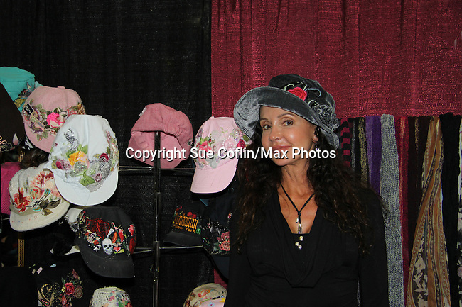 "General Hospital's Jackie Zeman (in Hats for Health booth at Women's Expo) wearing Hats for Health as Daytime's TV and Broadway stars get involved in helping launch Jane Elissa's ""Hats For Health"" to promote awareness and to raise money for Leukemia/Lymphoma cancer research and patient aid. The Hats For Health will be available through Jane Elissa at 917-325-1085 and through the new website ""Hats For Health"". Jackie Zeman was at the 8th Annual Connecticut Women's Expo presented by Comcast on September 11 & 12, 2010, Hartford, Connecticut.  (Photo by Sue Coflin/Max Photos)"