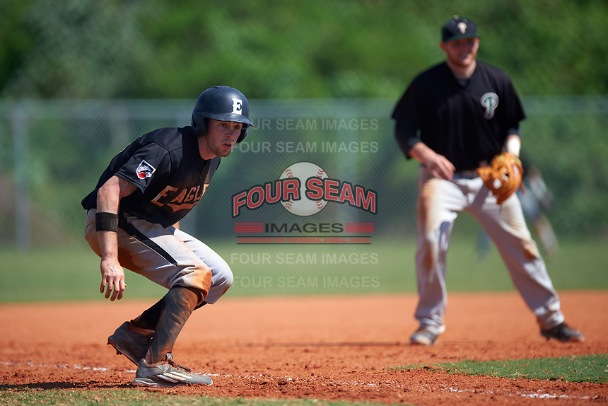 Edgewood Eagles Jonathan Roehler (9) during the second game of a doubleheader against the Plymouth State Panthers on April 17, 2016 at Lee County Player Development Complex in Fort Myers, Florida.  Plymouth State defeated Edgewood 16-3.  (Mike Janes/Four Seam Images)