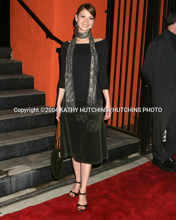 ©2004 KATHY HUTCHINS /HUTCHINS PHOTO.GRAND OPENING OF A NEW LOCATION FOR THE HOWARD FINE ACTING SCHOOL.LOS ANGELES, CA.DECEMBER 12, 2004..TAMARA BRAUN