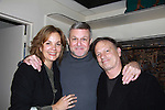Guiding Light's Justin Deas and wife Margaret Colin (ATWT) came to see Guiding Light's Ron Raines in Follies at the Marquis Theater, New York City, New York on Sept. 18, 2011. (Photo by Sue Coflin/Max Photos)