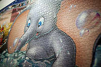"Detail of Ravensburger's ""Memorable Disney Moments"" world record setting jigsaw puzzle at the 114th North American International Toy Fair in the Jacob Javits Convention center in New York on Sunday, February 19, 2017.  The four day trade show with over 1000 exhibitors connects buyers and sellers and draws tens of thousands of attendees.  The toy industry generates over $26 billion in the U.S. alone and Toy Fair is the largest toy trade show in the Western Hemisphere. (© Richard B. Levine)"