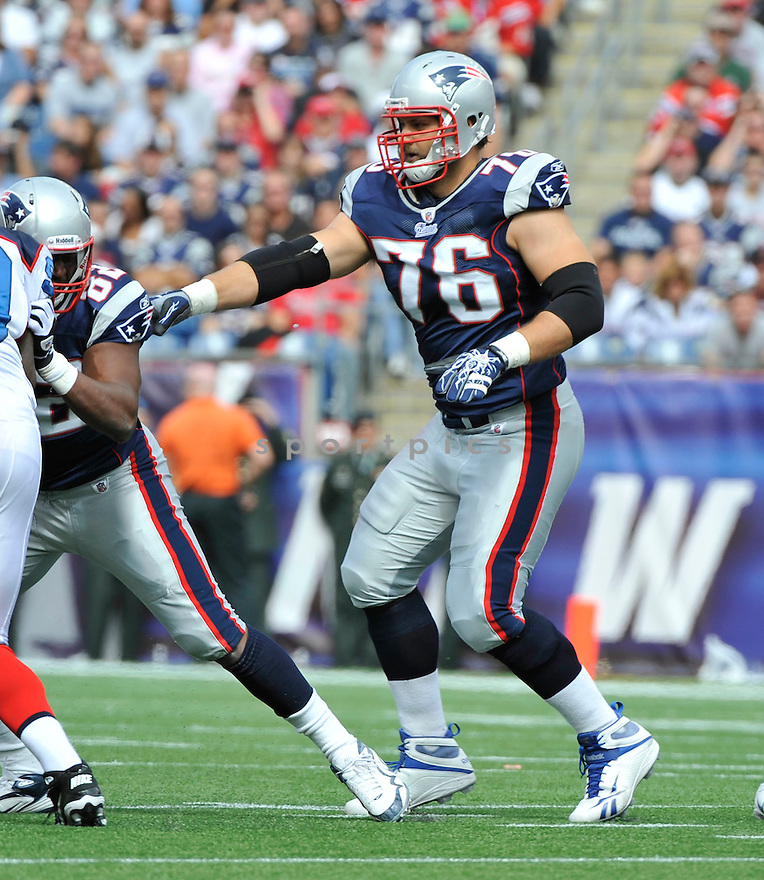 SABASTIAN VOLLMER, of the New England Patriots,  in action during the Patriots  game against the Buffalo Bills on September 26, 2010 at Gilette Stadium in Foxboro, Massachusetts..Patriots defeated the Bills 38-30