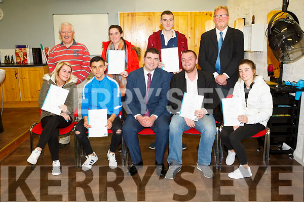 Brendan Griffin  Minister of State for Tourism and Sport presented Certificate to  trainees of the Community Training Centre Monavalley at an awards event on Monday. Pictured front l-r Samantha Ward, Iasmin Gheorghe, Brendan Griffin, TD,  Jason Lowe, Sophie Fitzgerald, Back George Dineen, Training Manager Shannon Murphy, Evan Lyons, Mark Charlton, Centre Manager
