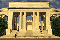 AJ4215, Arlington, National Cemetery, Virginia, Memorial Amphitheater a white marble structure at Arlington Nat'l Cemetery in Arlington in the state of Virginia.