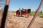 Annual fall Gas-Up at McFarland Ranch near Galt, Calif. of Branch 13, Early-Day Gas Engine and Tractor Association. (EDGE & TA)..Jeff Wasllom's 1927 Eagle Mod. H Tractor, 16-30