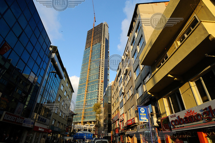 Levant district, which despite being far from the centre of the city is becoming one of its principle business districts, with an increasing number of skyscrapers being built.