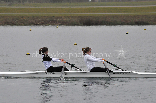 174 Coalporters W.J15A.2x..Marlow Regatta Committee Thames Valley Trial Head. 1900m at Dorney Lake/Eton College Rowing Centre, Dorney, Buckinghamshire. Sunday 29 January 2012. Run over three divisions.