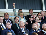 Scotland fan Rod Stewart gets behind his side during the FIFA World Cup Qualifying match at Hampden Park Stadium, Glasgow Picture date 10th June 2017. Picture credit should read: David Klein/Sportimage