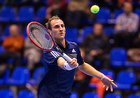 December 18, 2014, Rotterdam, Topsport Centrum, Lotto NK Tennis, Men's singles quarter final, Thiemo de Bakker(NED) <br /> Photo: Tennisimages/Henk Koster