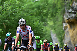 The peloton including Polka Dot Jersey Waren Barguil (FRA) Team Sunweb in action during Stage 10 of the 104th edition of the Tour de France 2017, running 178km from Perigueux to Bergerac, France. 11th July 2017.<br /> Picture: ASO/Pauline Ballet | Cyclefile<br /> <br /> <br /> All photos usage must carry mandatory copyright credit (&copy; Cyclefile | ASO/Pauline Ballet)