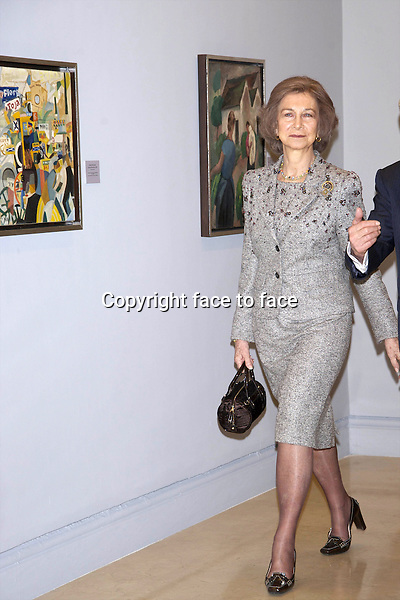 Queen Sofia attended the Academic ceremony commemorating the 25th anniversary of the Contemporary Art Collection at Academia de Bellas Artes de San Fernando in Madrid, 26.02.2012...Credit: PPE/face to face..- No Rights for Netherlands -