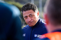 Auckland assistant coach Filo Tiatia during the Mitre 10 Cup preseason rugby match between the Wellington Lions and Auckland at Evan's Bay Park in Wellington, New Zealand on Friday, 3 August 2018. Photo: Dave Lintott / lintottphoto.co.nz