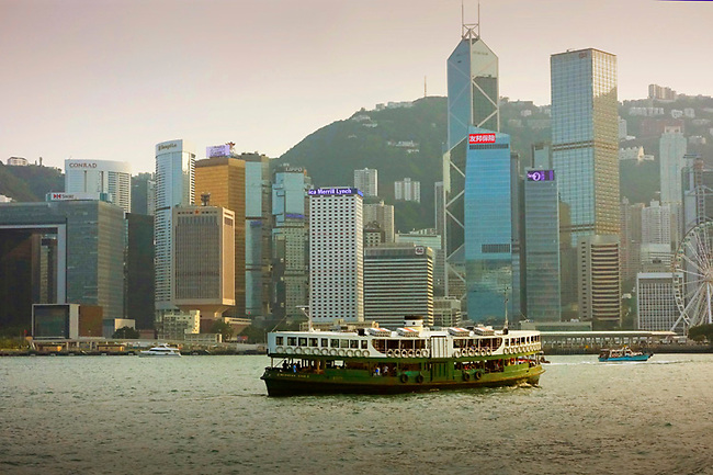 Star Ferry with Hong Kong skyline
