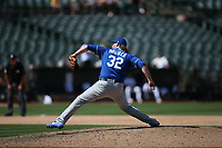 OAKLAND, CA - AUGUST 16:  Brandon Maurer #32 of the Kansas City Royals pitches against the Oakland Athletics during the game at the Oakland Coliseum on Wednesday, August 16, 2017 in Oakland, California. (Photo by Brad Mangin)
