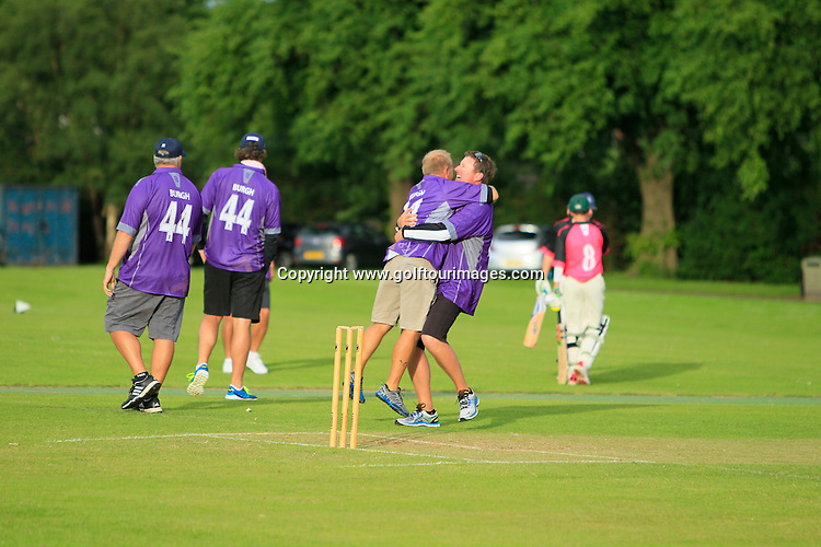At the Caddies versus Helensburgh annual charity Cricket Match ahead of the 2015 Aberdeen Asset Management Scottish Open which will be played over the Championship Course at Gullane Golf Club from 9th to 12th July 2015 : Picture Stuart Adams, www.golftourimages.com: \07-Jul-15\