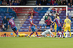 Inverness Caley Thistle v St Johnstone&hellip;27.08.16..  Tulloch Stadium  SPFL<br />Ross Draper scores caley&rsquo;s first goal<br />Picture by Graeme Hart.<br />Copyright Perthshire Picture Agency<br />Tel: 01738 623350  Mobile: 07990 594431