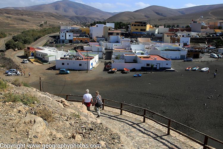 Coast path at coastal village of Ajuy, Fuerteventura, Canary Islands, Spain