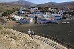 Coast path at coastal village of Ajuy, Fuerteventura, Canary Islands, Spain