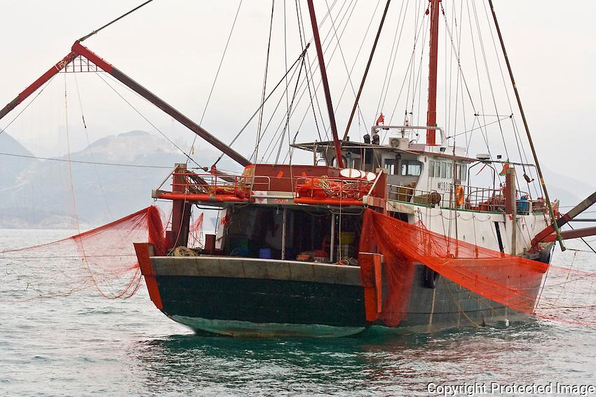 Fishing trawler on Belcher Bay, Hong Kong