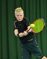 Rotterdam, The Netherlands, March 13, 2016,  TV Victoria, NOJK 12/16 years, Lars Wagenaar (NED)<br /> Photo: Tennisimages/Henk Koster